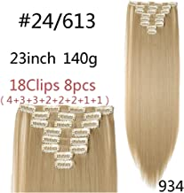 8Pcs/Set 29 colors 18 clips Long Straight Clip in Hair Synthetic,24613,23-26inch,United States