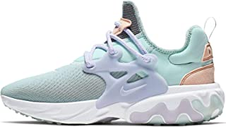 Women's React Presto Running Shoes (8.5, Teal Tint/White/Washed Coral/Oxygen)