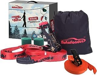 Autofonder Slacklines Slack Line Kit-Strong Ratchet with Grip Tree Protectors Carry Bag and Instruction Booklet Complete Slack Line Set Easy to Set Up