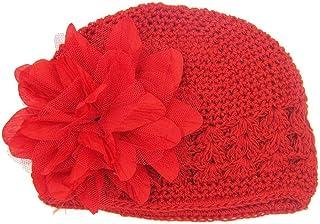5500a5d2d14aa Felicy Bonnet Bébé Fille Garçon Bonnets Coton Crochet Papillons Chapeau  Unisexe Bébé Naissance Tricot Hat Cap