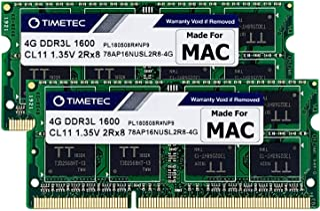 Timetec Hynix IC 8GB Kit (2x4GB) DDR3L 1600MHz PC3L-12800 SODIMM Memory Upgrade For Mac Pro 13-inch/15-inch Mid 2012, iMac...