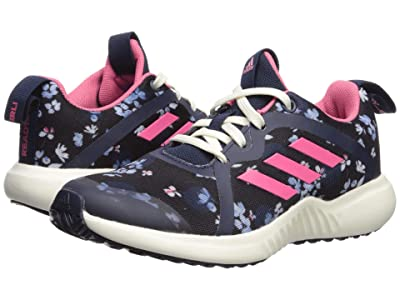 adidas Kids FortaRun X (Little Kid/Big Kid) (Black/Real Pink/Navy) Girls Shoes