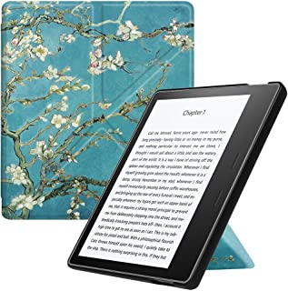 Fintie Origami Case for Kindle Oasis (Previous 9th Gen, 2017 Release) - Slim Fit Stand Cover Support Hands Free Reading with Auto Wake Sleep (Not Fit All-New Kindle Oasis 10th Gen, 2019), Blossom