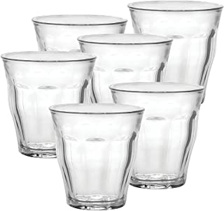 Duralex 1027AB, Clear 25 cl Picardie Tumbler, Pack of 6, Glass, 8-3/4-Ounce