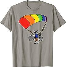 Bat Parasailing Rainbow Dressed Animal T-Shirt
