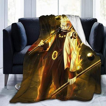 POMJK Naruto ligera 1,100 /× 140 cm para ropa de cama Manta de forro polar con dibujos animados de Naruto 3D suave sof/á coche