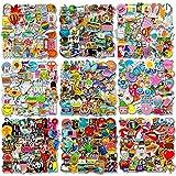 500 PCS Cool Laptop Stickers Vinyl Graffiti Decals, Variety Pack Waterproof Stickers for iPad, Water Bottle, Travel Case, Skateboard, Guitar, Car Bumper, Bike Helmet