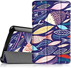Fintie LG G Pad F 8.0 / G Pad II 8.0 SlimShell Case - Ultra Lightweight Stand Cover [Fit 4G LTE AT&T Model V495 / T-Mobile V496 / US Cellular UK495] & [Fit G Pad 2 8.0 V498], Midnight Fish