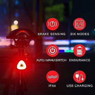 BOHSRL Bike Tail Light, Smart Brake Sensor USB...