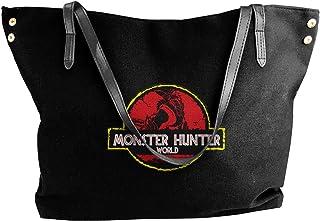 Monster Hunter World モンスターハンターの世界 レディース オシャレ手提げバッグ トートバッグ ズックショルダーバッグ 大容量 収納 旅行