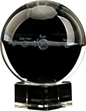 AIRCEE Mini 3D Model Of Galaxy Crystal Ball Sphere Globe Planet Glass Ball with Clear Stand Home and Office Decor, glass, ...
