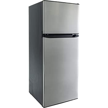 Amazon Com Recpro Rv Refrigerator Stainless Steel 10 7 Cubic Feet 12v 2 Door Fridge Automotive