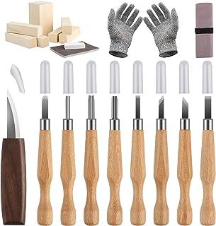 Wood Carving Tools,Wood Carving Kit Wood Carving Knife Set with Wood