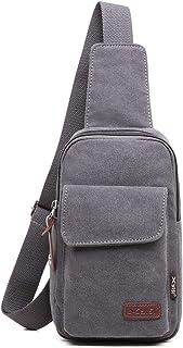 FANDARE Brusttasche Herren Schultertasche Sling Bag Rucksack 7.9 inch iPad Sling Bag Segeltuch Tasche Umhängetasche Sporttasche für Wandern,Abenteuer,Sport, Reisen und Joggen