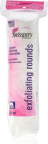 Swisspers Premium Exfoliating Cotton Rounds, 80 Count