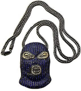 Paved Goon Ski Mask Pendant with 4mm 36