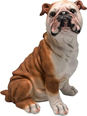 C&F USA Sitting Bulldog Puppy Figurine