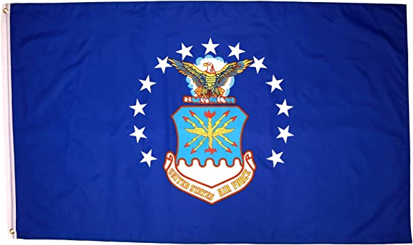 Air Force Flag 3x5 With Two Brass Grommets Polyester Fabric And Double Stitched Edges 3x5 Air Force Flag US Air Force Flag 3x5 Military Flag Air Force Flags 3x5 Flag Of The US Air Force