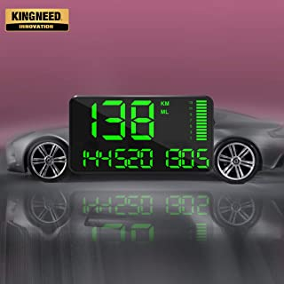 Kingneed GPS Speedometer Odometer HUD Digital Display 5.5 inch MPH/KMH with Over Speeding Alarm for All Cars Vehicles