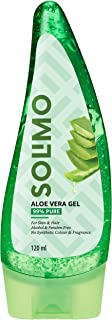 Amazon Brand - Solimo 99% Pure Aloe Vera Gel (Unscented, for Skin & Hair) - 120 ml
