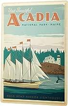 Tin Sign Wall Decor Adventurer Acadia National Park Maine Metal Plate 8X12
