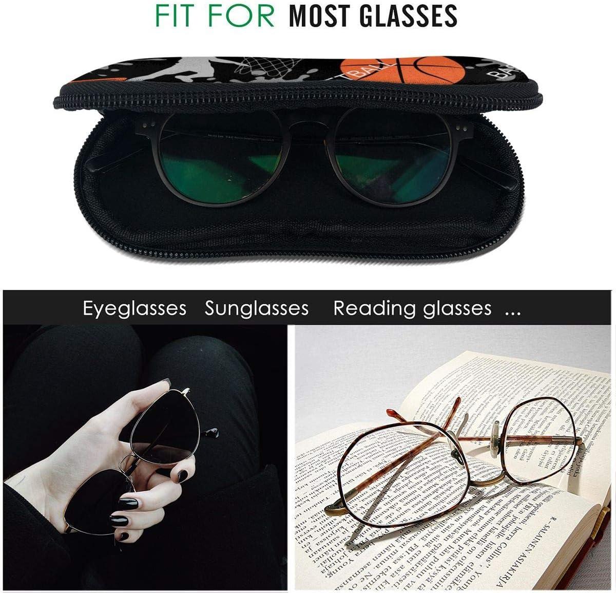 Ultra Light Portable Zipper Sunglasses Glasses Case CHOKRA Sylized Octopus Soft Neoprene Eyeglasses Case with Carabiner