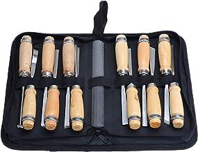 Gugutogo 8 UNIDS Conjunto de Cincel Tallado Cuchillas Cuchillo Madera Piedra Grabado Artesan/ía Escultura Corte Reparaci/ón Mano DIY Cuchillo Herramienta Carpinter/ía