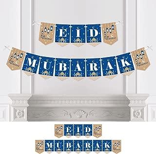 Big Dot of Happiness Ramadan - Eid Mubarak Bunting Banner - Party Decorations - Eid Mubarak