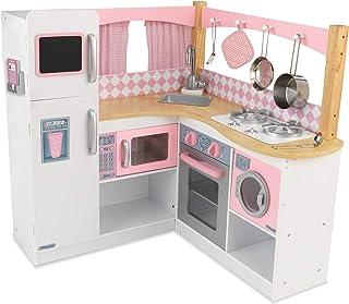 KidKraft 53185 Grand Gourmet hörn lekkök, rosa och vit