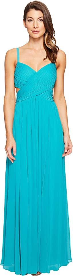 Crisscross Front Pleated Gown