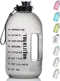 BOTTLED JOY 1 Gallon Water Bottle, BPA Free Large Water Bottle Hydration with Motivational Time Marker Reminder Leak-Proof...