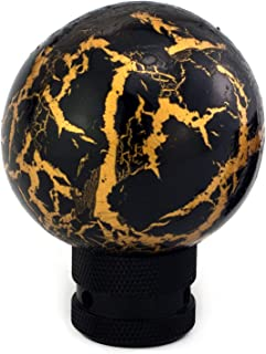 Thruifo Gear Shifter Head, Thunder Pattern Ball Shape MT Car Stick Shift Knob Fit Most Automatic Manual Vehicles, Black