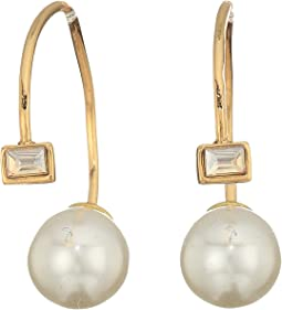 Rebecca Minkoff - Baby Pearl and Stone Threader Huggie Earrings