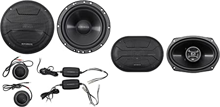 "Hifonics ZS65C 6.5"" 800w Component Car Speakers+(2) 6×9 800w Coaxial Speakers"