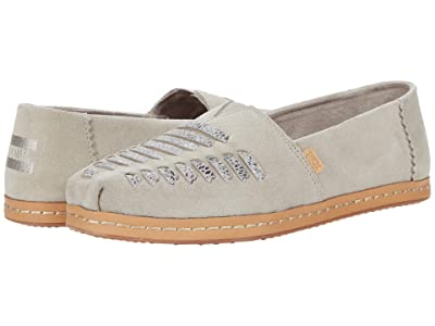 TOMS Alpargata Leather Wrap (Cobblestone Suede) Women