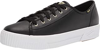 Keds womens Triple Kick Amp Sneaker, Black Leather, 9.5 US