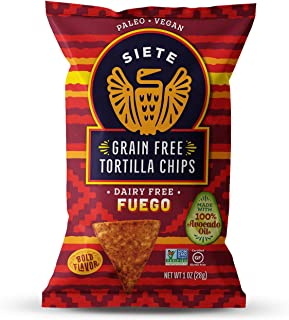 Siete Fuego Grain Free Tortilla Chips, 1 oz bags, 24-Pack