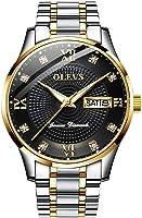 Men's Stainless Steel Watch,Automatic Watch Men,Men Date Watch,Men's Luxury Watch,Men Watch,OLEVS Watch,Fashion Watch for Men,Men Waterproof Watch,Quartz Business Watch,Luminous Watch,Diamond Watch