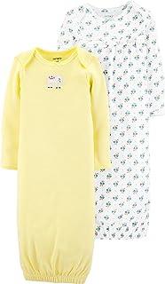 Carter`s Baby Girls` 2-Pack Babysoft Sleeper Gowns