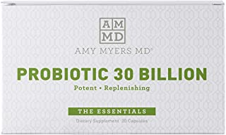 Dr. Amy Myers Best Probiotics 30 Billion CFU Per Capsule - for Women & Men - Powerful Combination of Doctor Approved Strains - Supports Healthy Digestion and Gut Bacteria Balance - One Month Supply