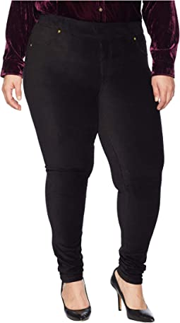 Plus Size Corduroy Pull-On Leggings