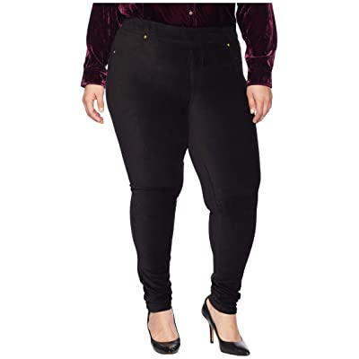MICHAEL Michael Kors Plus Size Corduroy Pull-On Leggings (Black) Women