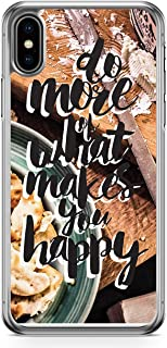 Case For iPhone XS MAX-Do More Of What Makes You Happy Motivation Quote 2D Phone Cover