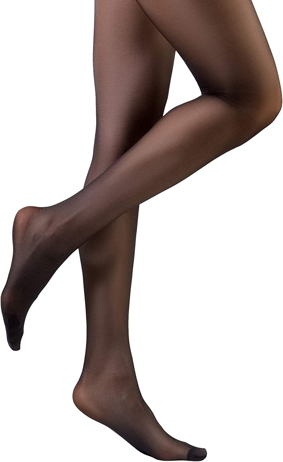 Sun fashion Women's 20D High Elastic Everyday Regular Tights Sheer Footed Panty Hose 10 Pairs