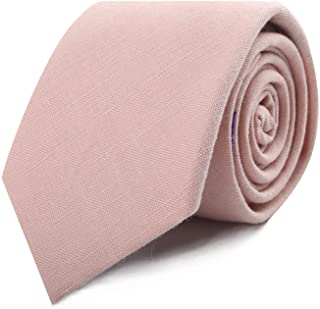 Blush Pink Ties Cotton Bow Ties Pocket Square for Adults & Kids Linen Neckties   Wedding Ties for Groomsmen   Tie for Groom