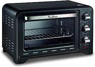 MOULINEX FOUR ACIER INOXYDABLE OPTIMO Noir, 1380 W, 19L Cuisson pizza pain tartes gateaux patisseries OX444810 - 24,5 x 3...