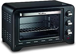MOULINEX FOUR ACIER INOXYDABLE OPTIMO Noir, 1380 W, 19L Cuisson pizza pain tartes gateaux patisseries OX444810 - 24,5 x 32...