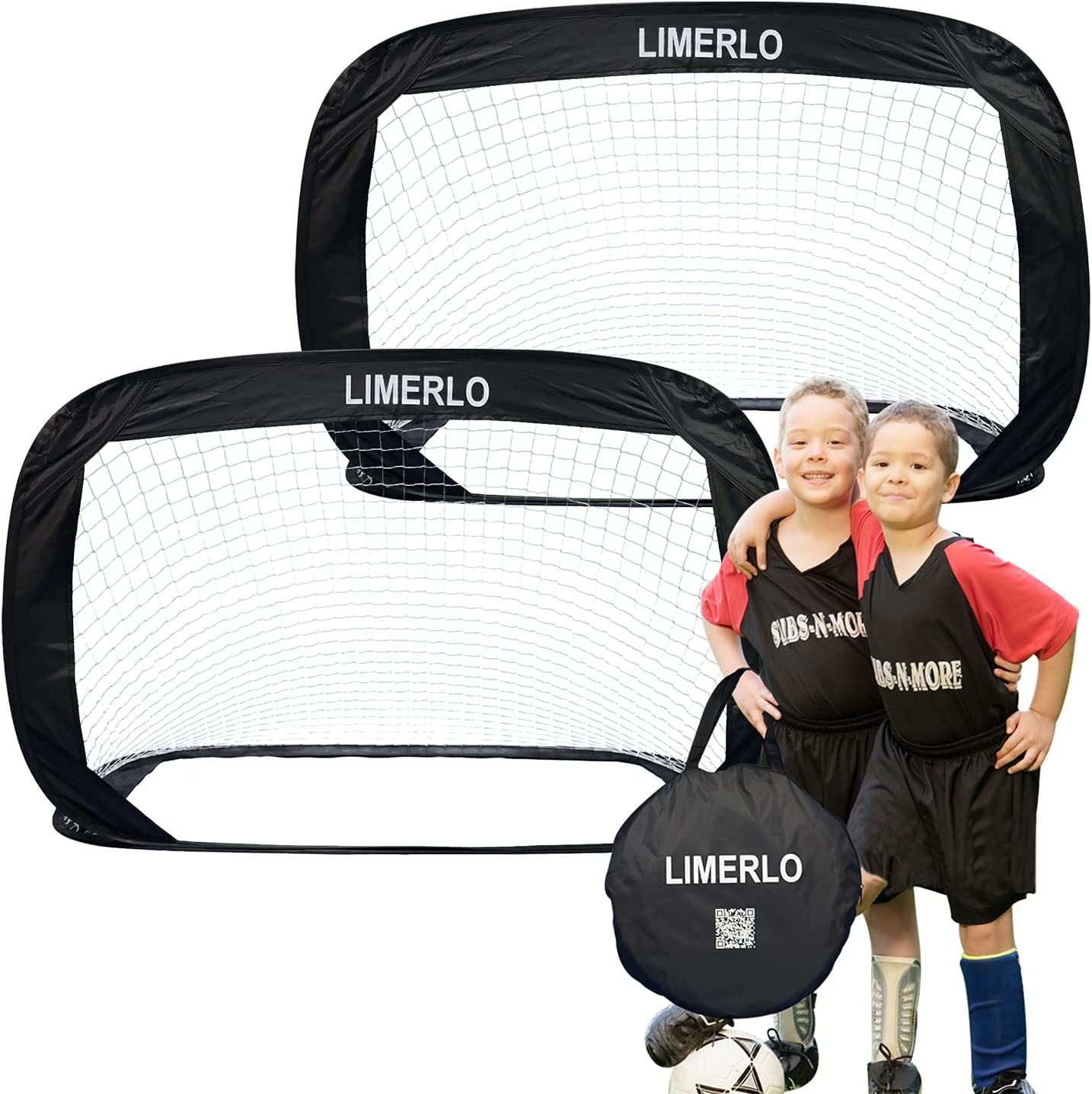 limerlo Portable Pop Dealing full price reduction Up Soccer Foldabl Brand Cheap Sale Venue - Goals Net Kids