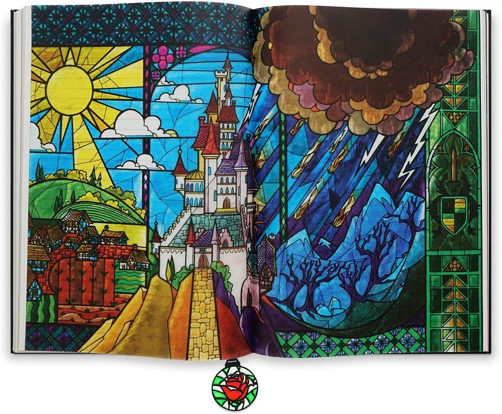 Disney Belle Beauty And The Beast Stained Glass Tabbed Journal