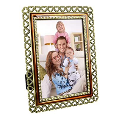 Giftgarden 4x6 Picture Frame Vintage Metal Hear...